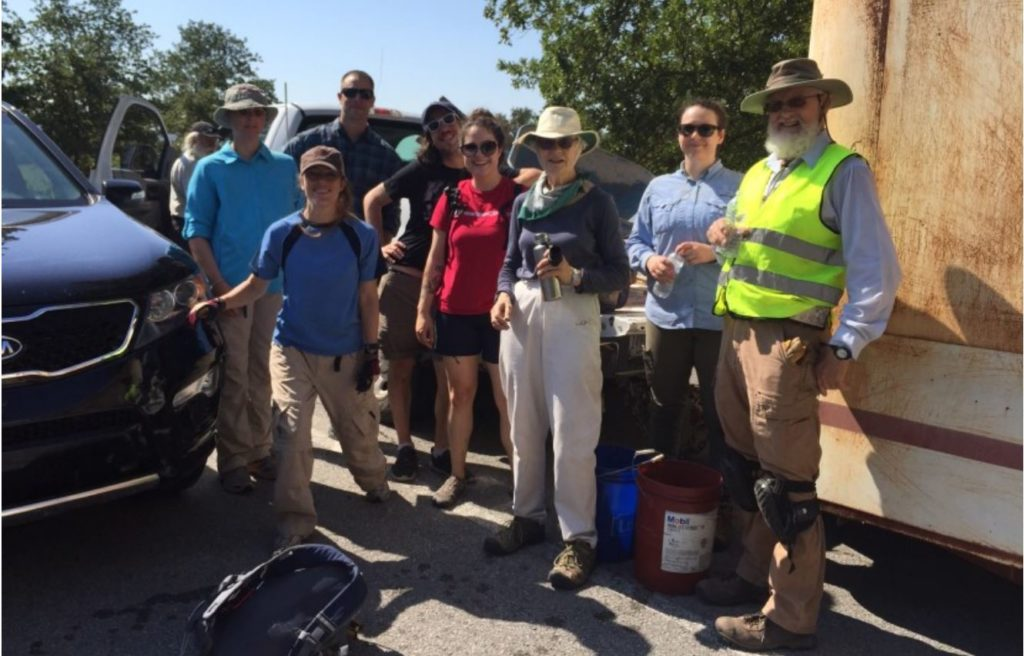 2019 Trail Maintenance Volunteers, Wichita Mountains Wildlife Refuge - Photo by Emelie Stahler