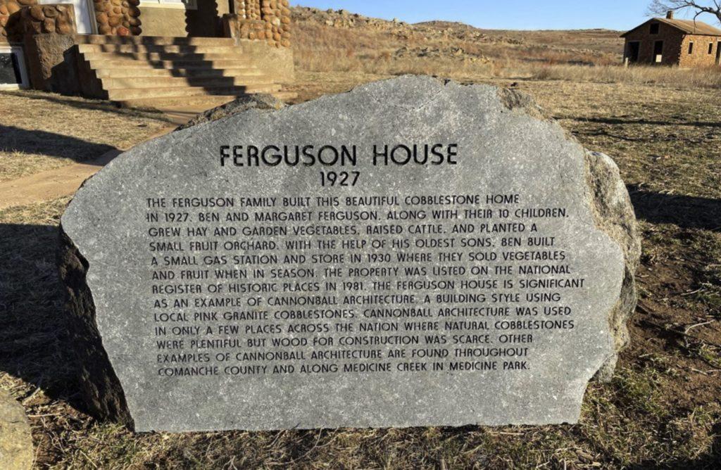Ferguson House Engraved Rock - 1927 - Wichita Mountains Wildlife Refuge
